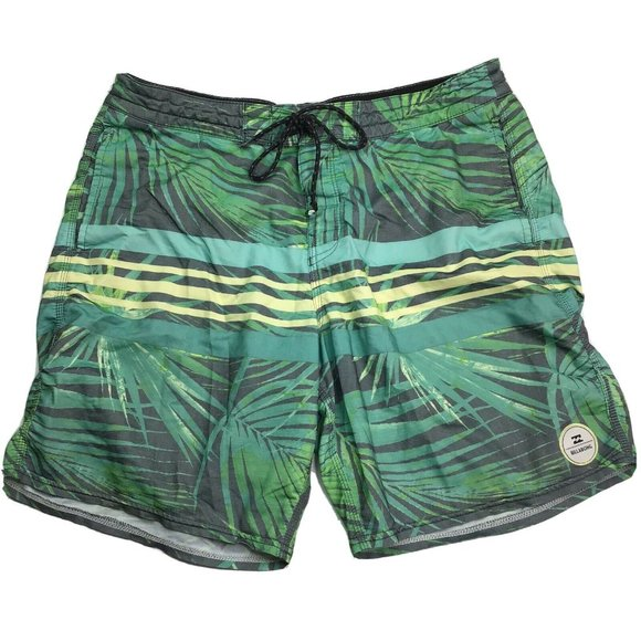 Billabong Boardshorts Green Tropical Leaf Mens 32